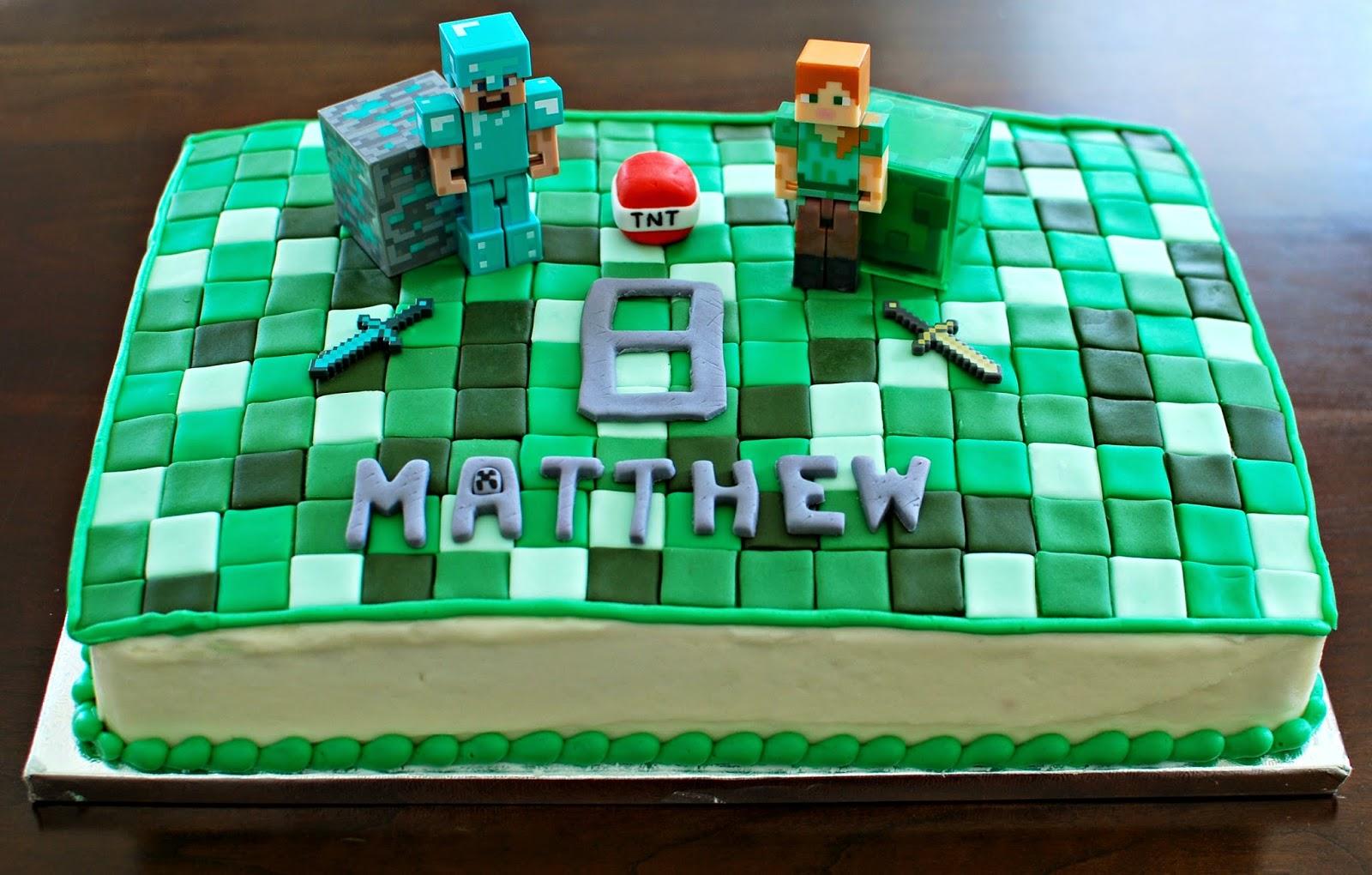 Snacky French: Minecraft, Superhero And Spiderman Lego Cakes