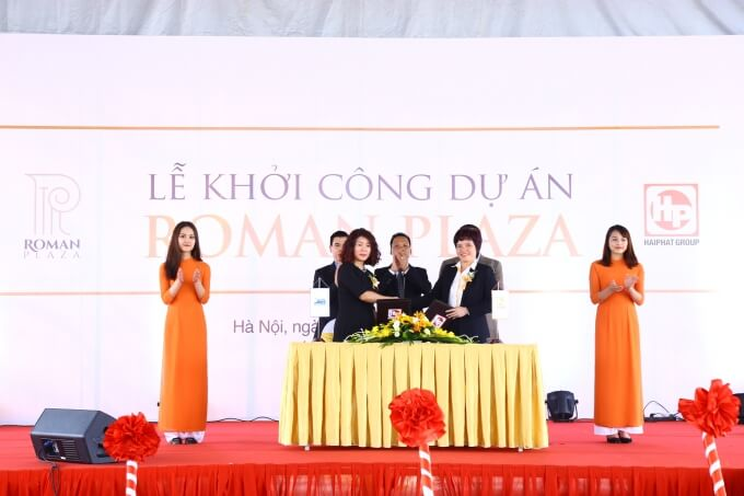 Lễ khởi công và ký kết hợp tác chiến lược dự án chung cư Roman Plaza Lê Văn Lương