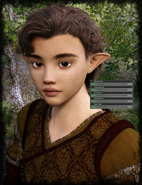 Thorneworks Ultimate Fantasy Ears Resource for Genesis 3 Male