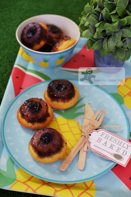 little mini caramel pinepple upside down butter cakes Mrs Ng SK