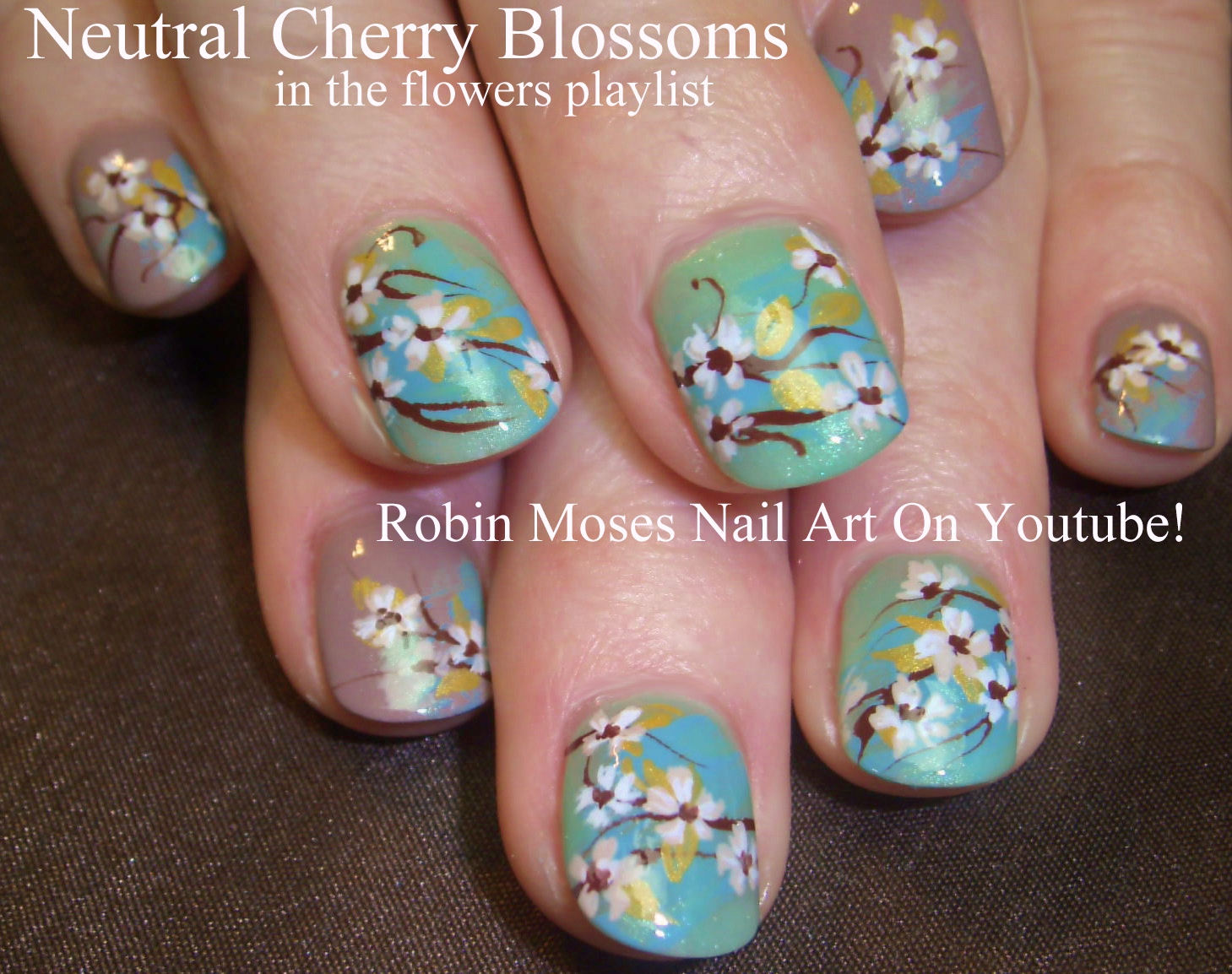 Robin moses nail art cherry blossom nail art 2016 full length easy cherry blossom nails watercolor ombre nail art design tutorial prinsesfo Gallery