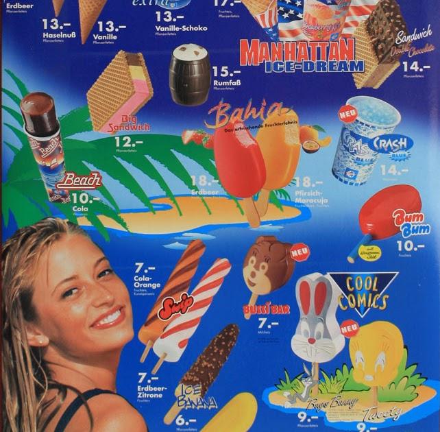 Eiskarte 90er
