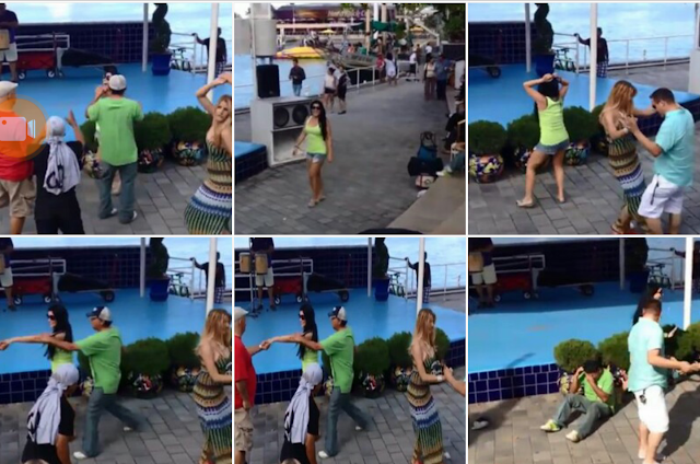 فيديو:  محاولة مراقصة فتاة تنتهي بطريقة غير متوقعة 👊