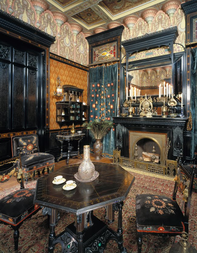 Victorian antiquities and design exotic influences in - Victorian style house interior ...
