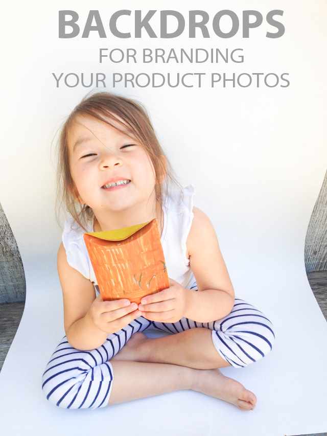 Easy to create backdrops for branding your product photos | Mama Bleu Designs