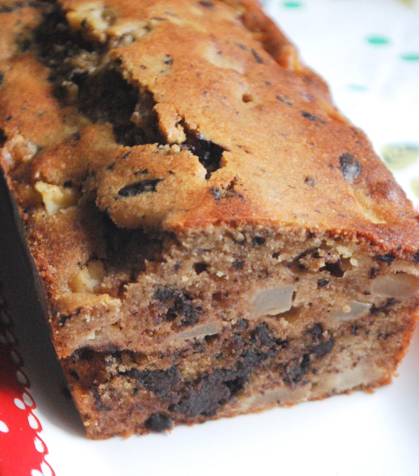 Cake Chocolat Poire Poudre Noisettes