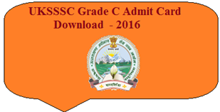 UKSSSC Group C Hall Ticket 2016