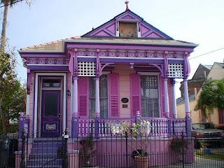 warna cat rumah bagian luar Pink Mauve