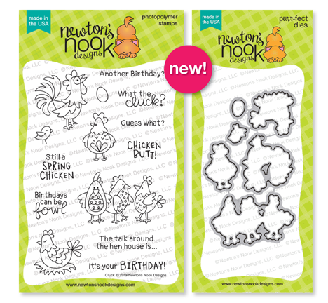 Cluck | Chicken Stamp Set by Newton's Nook Designs #newtonsnook