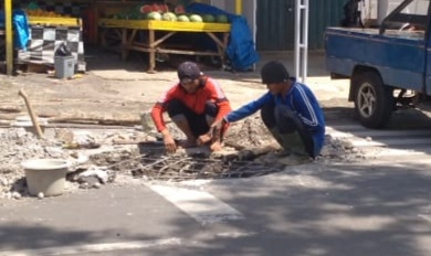 Belum Genap Satu Tahun Usai Perbaikan,Gorong-Gorong Ini Kembali Rusak