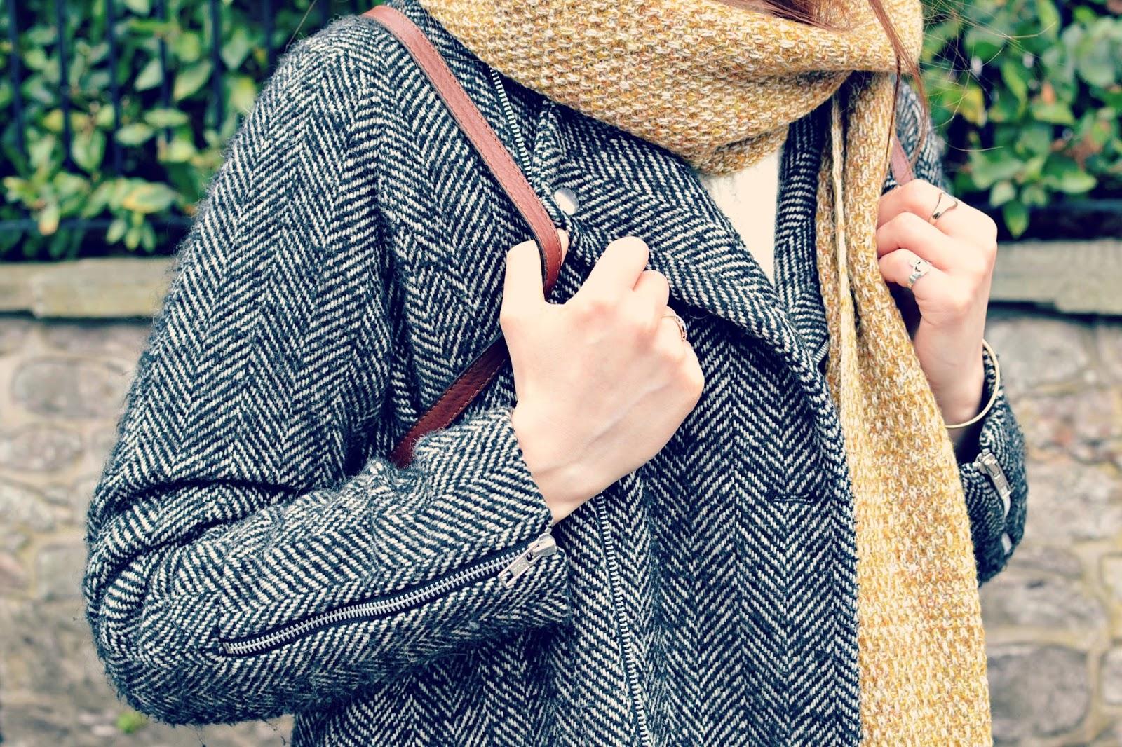 asos mustard scarf