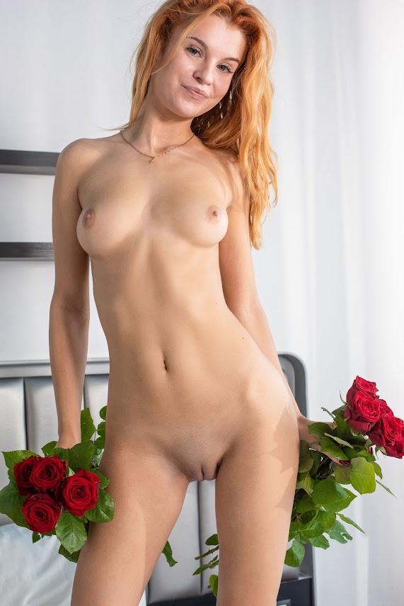 MetArt Ingrid Red Lingerie