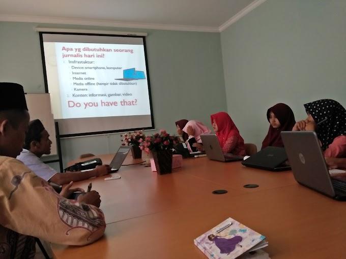 Bersama PSIK, Ma'had Jami'ah IPMAFA Galakkan Pelatihan Jurnalistik