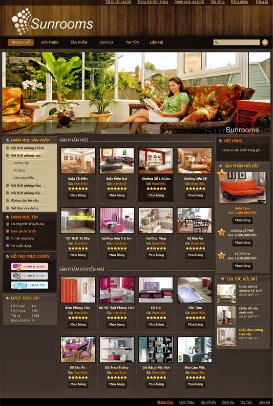 Thiết kế website bán hàng bàn ghế