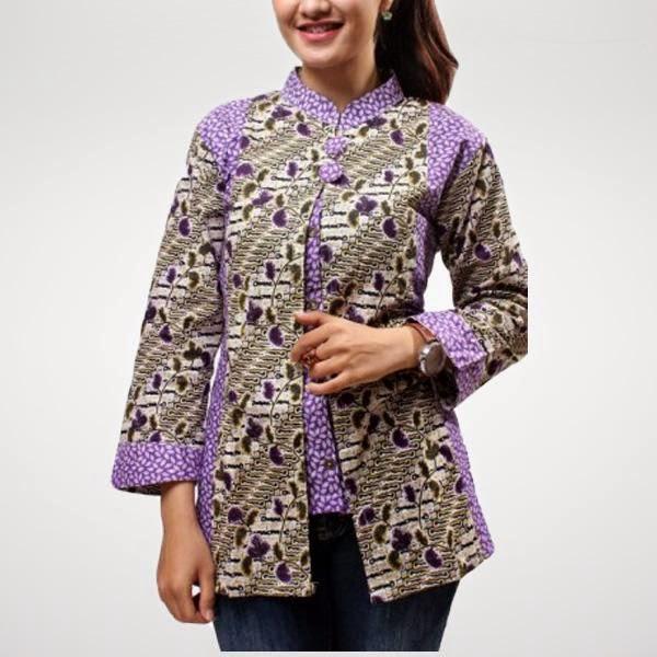 Model Baju Batik Terbaru: Model Baju Muslim Batik Terbaru Untuk Wanita