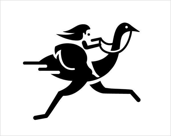 Contoh Desain Logo Negative Space - 15