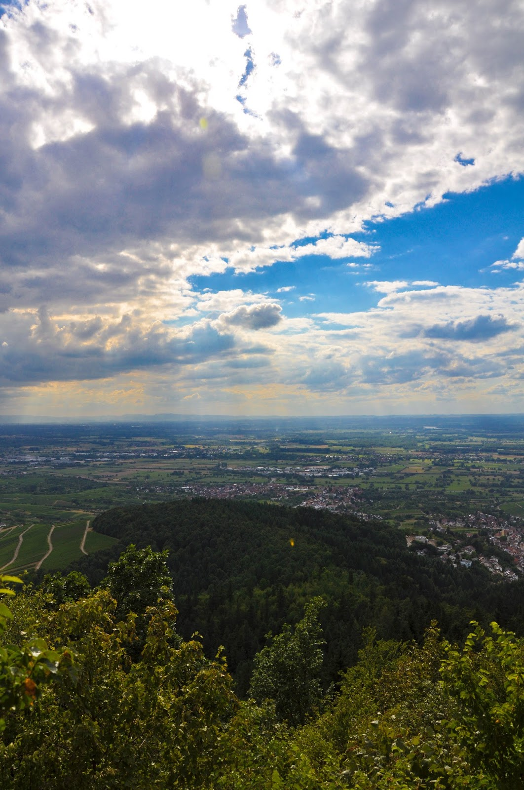 The Rhine Valley seen from the Yburg Castle, Germany