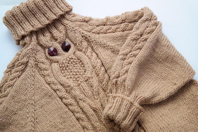 Sweterek z sówką