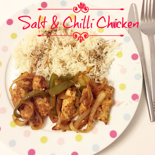 SLIMMING WORLD  - MEAL OF THE WEEK - SALT & CHILLI CHICKEN