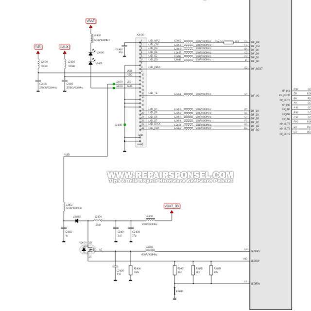 Schematic LED Nokia X2-02
