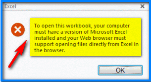 To open this workbook, your computer must have a version of