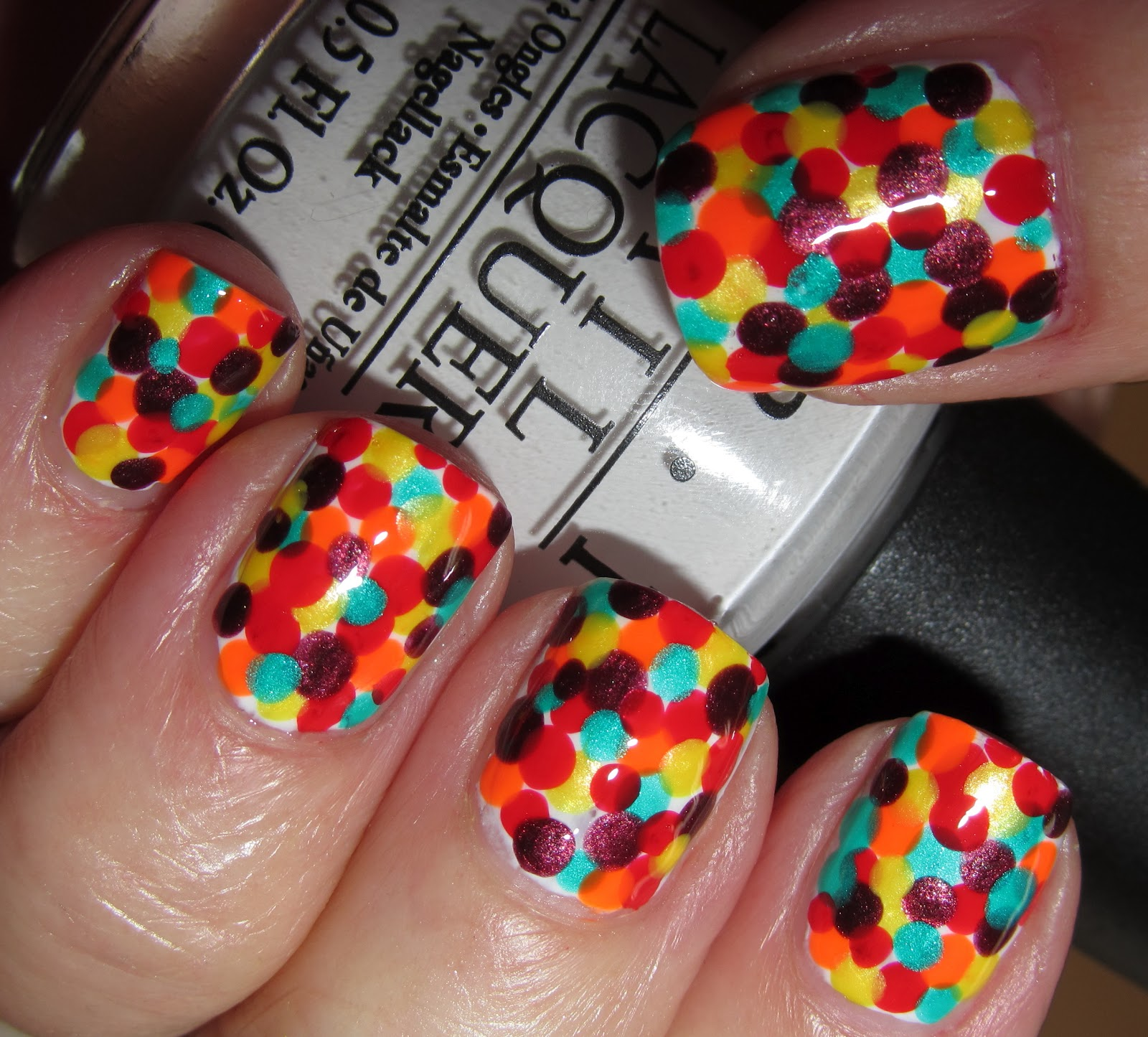 Marias Nail Art And Polish Blog: Hiding In Skittles