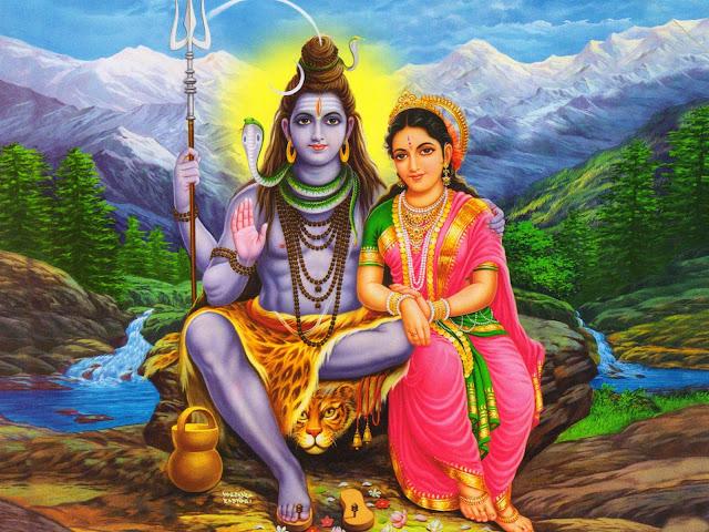 Best Lord Shiva & Parvati Romantic  Wallpaper