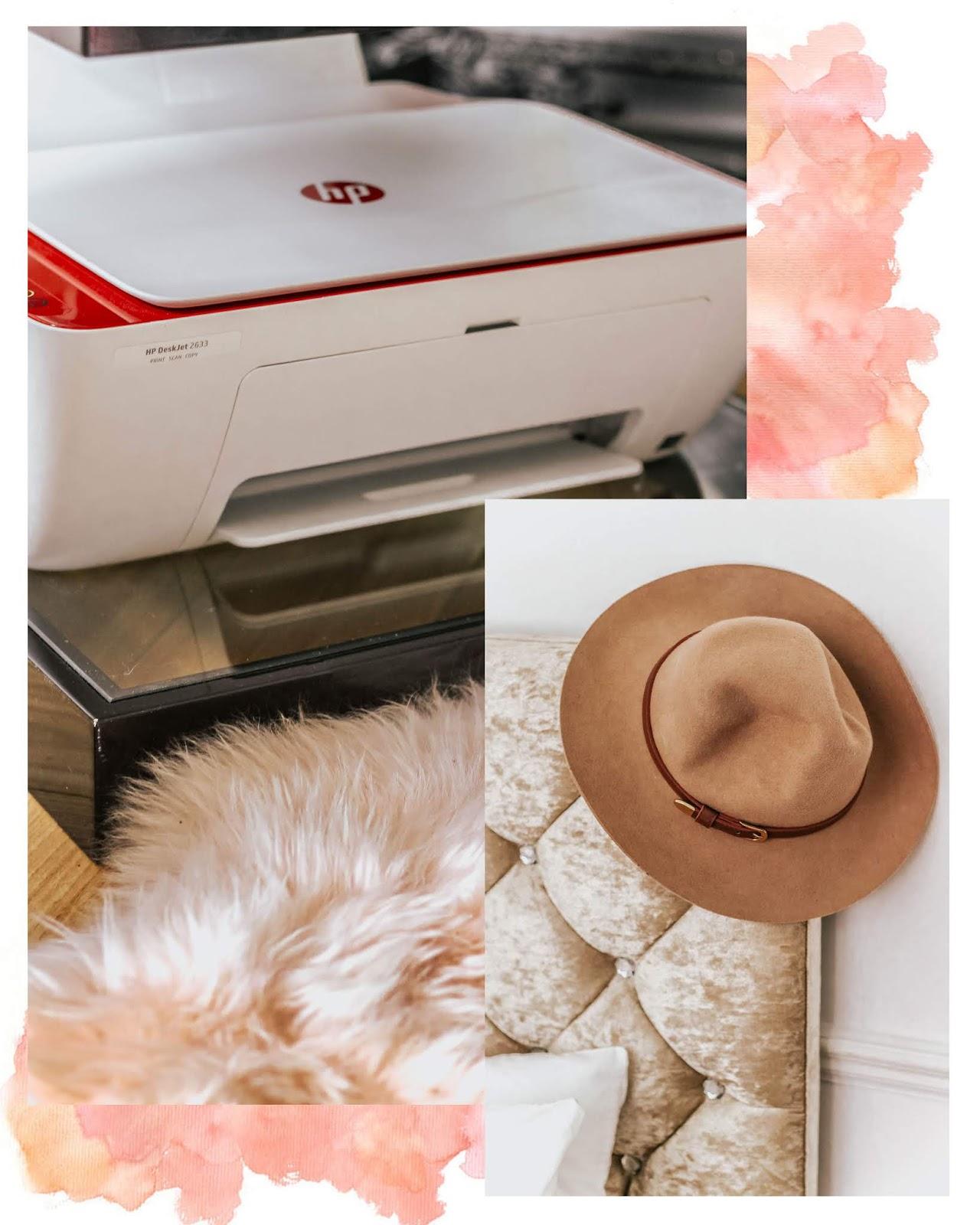 HP Deskjet 3762 Printer White and Red