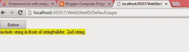 How to insert string at specified position of existing string in ASP.NET