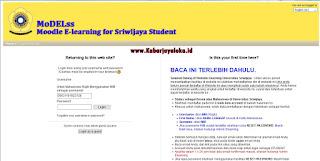 Halaman Masuk atau Login E-learning Universitas Sriwijaya