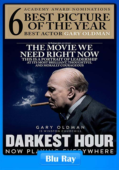 Darkest Hour 2017 Hindi 720p BluRay Dual Audio ESubs x264 | 480p 300MB | 100MB HEVC
