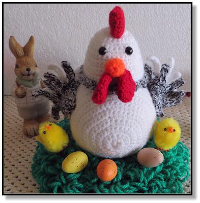 Gehäkeltes Huhn