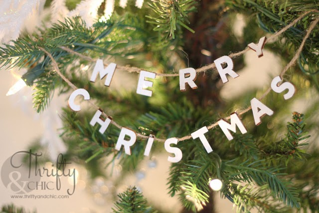 Merry Christmas Jute Garland