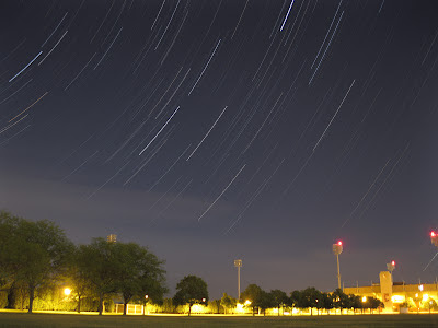 Point and shoot star trails at BGSU intramural fields