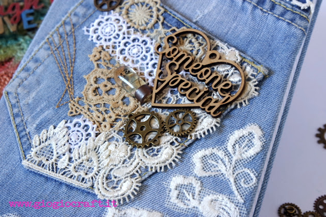 Video Tutorial: Shabby or Colourful? Upcycled jeans MixedMedia cover