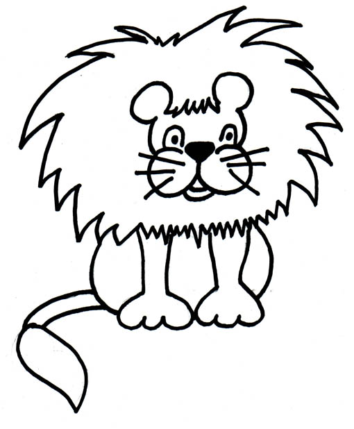 black-and-white-clipart-of-lion jpgZoo Clip Art Black And White
