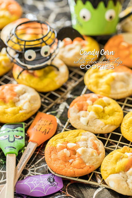 Candy Corn White Chocolate Chip Cookies Plain Chicken