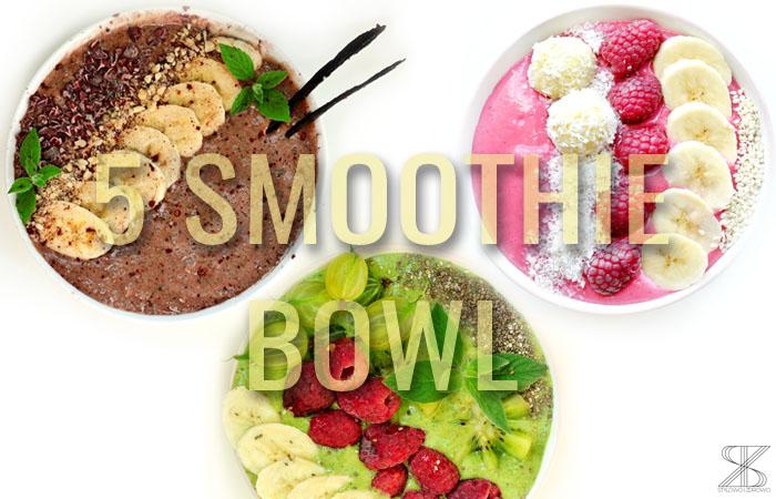 smoothie bowl w 4 odslonach