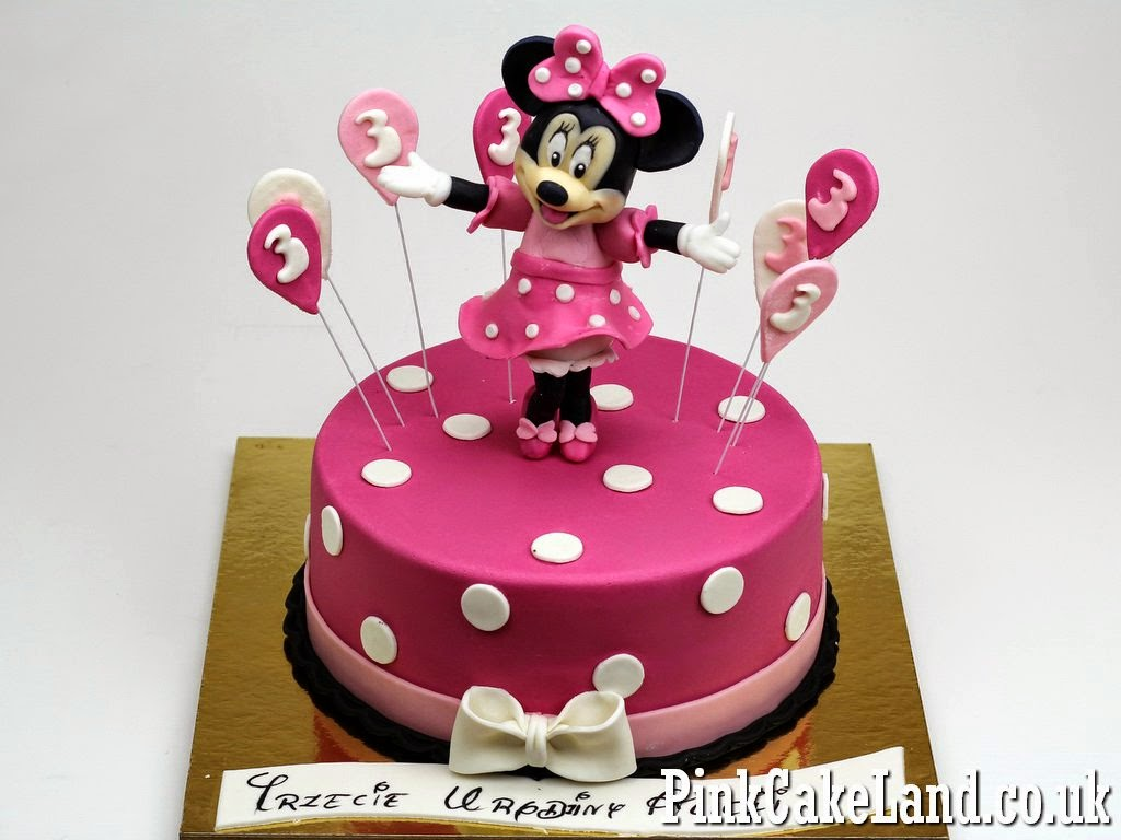 Mickey Minnie Mouse Cakes Minnie Mouse Birthday Cakes in London