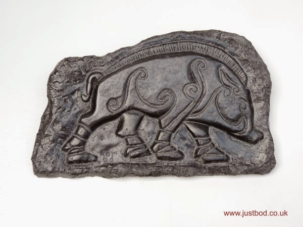 Carved stone Pictish Boar