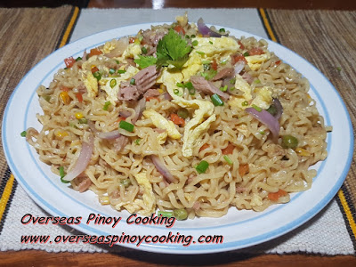 Pansit Canton with Tuna and Egg