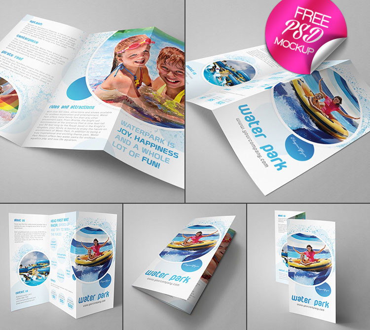 Trifold Brochure Mockup Template