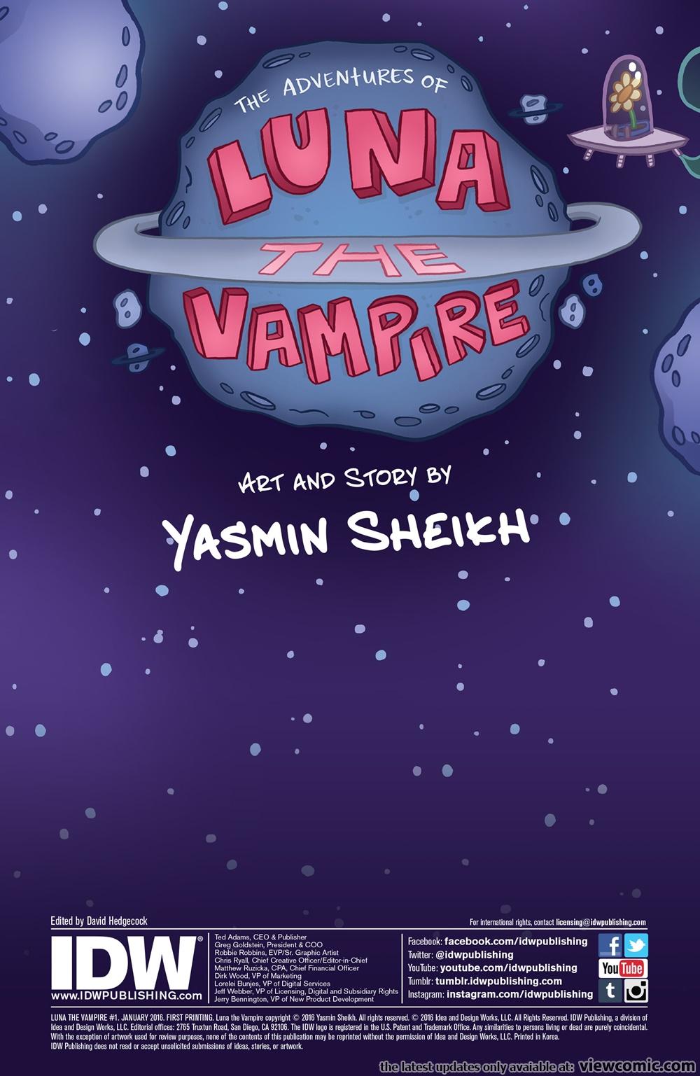 Luna the Vampire 001 (2016) ………………… | Viewcomic reading
