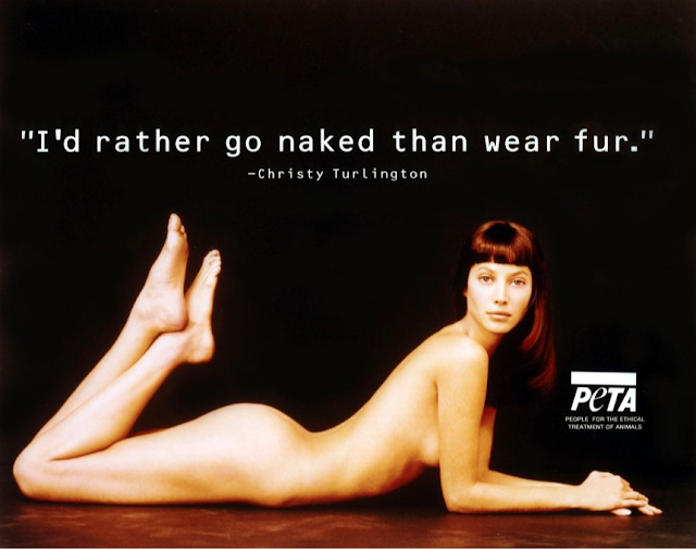 Christy Turlington goes nude for PETA