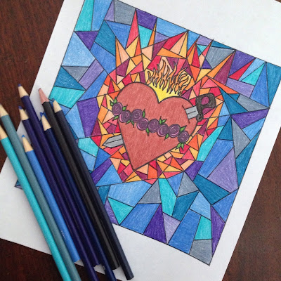 and you might also like these immaculate heart of mary coloring pages