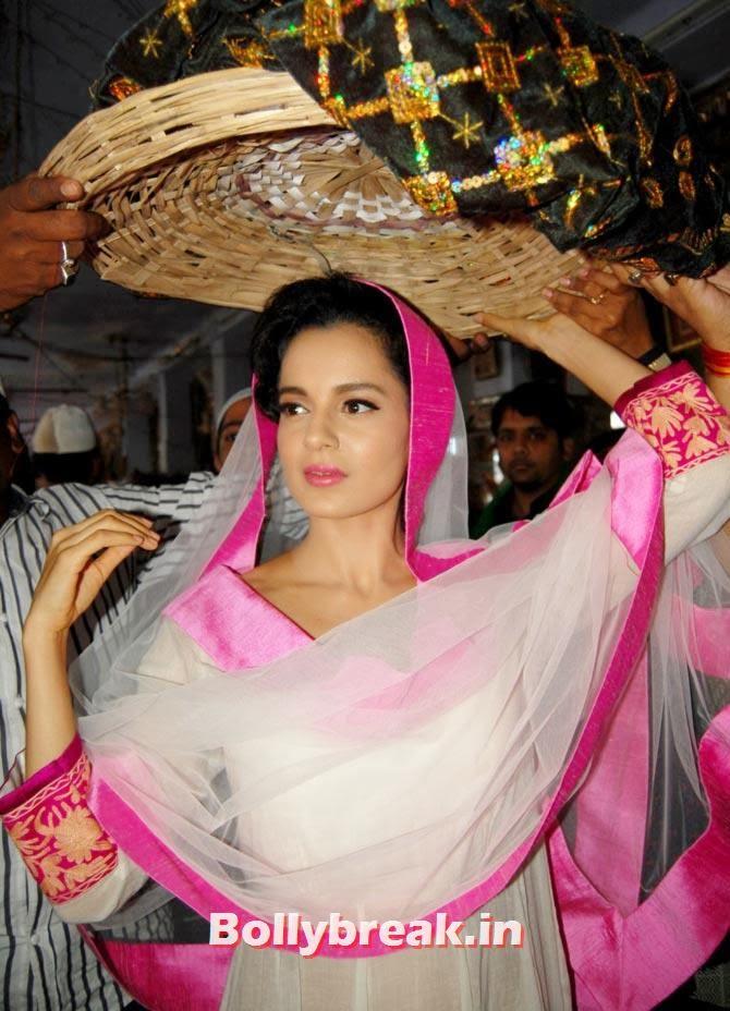 Kangna Ranaut at ajmer sharif, Kangna Ranaut visits Ajmer Sharif for Rajjo Promotion