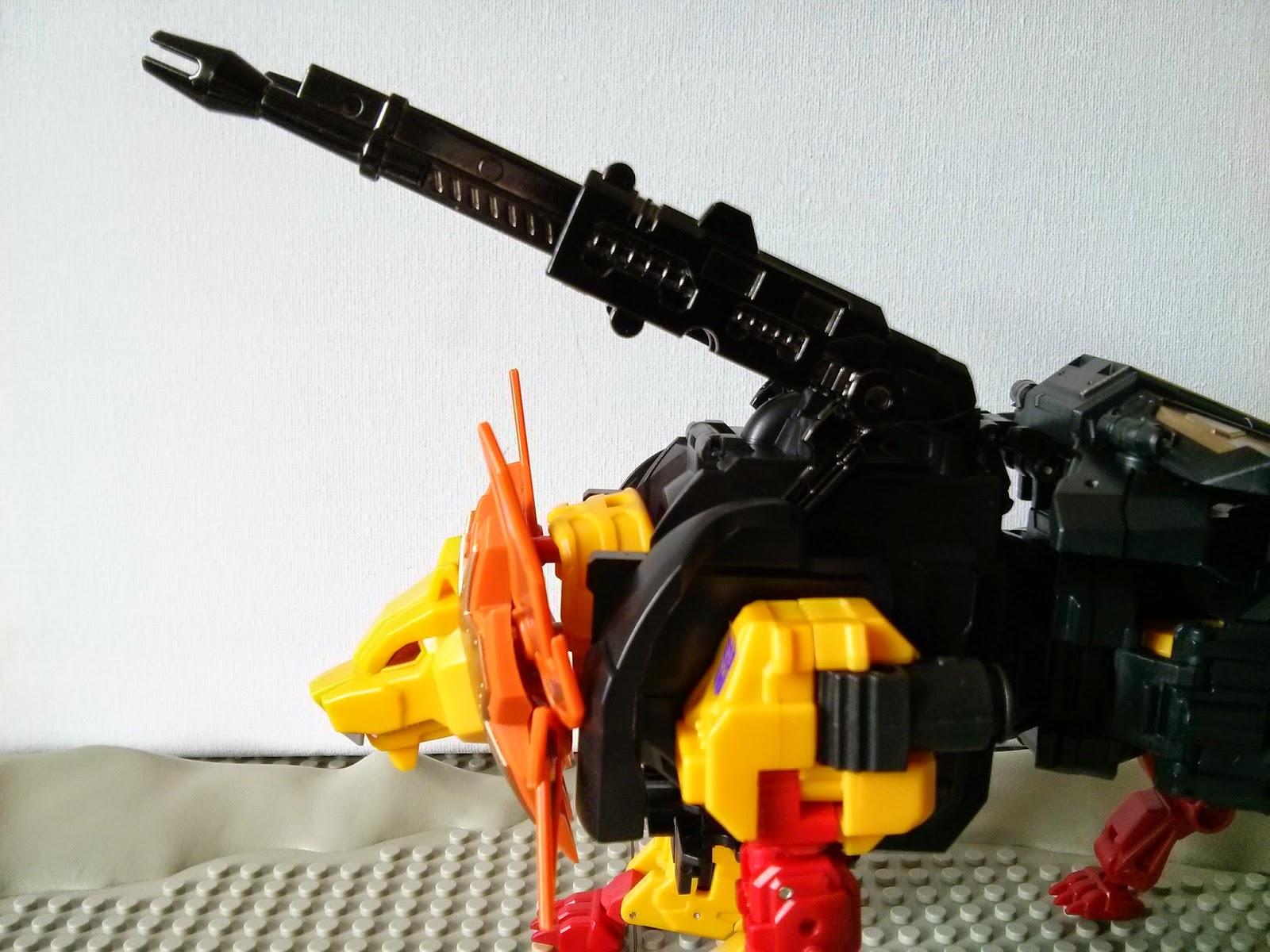 his guns!