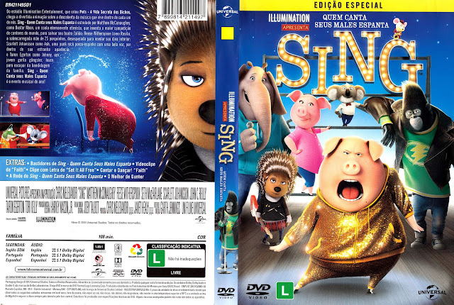 Capa DVD Sing: Quem Canta Seus Males Espanta