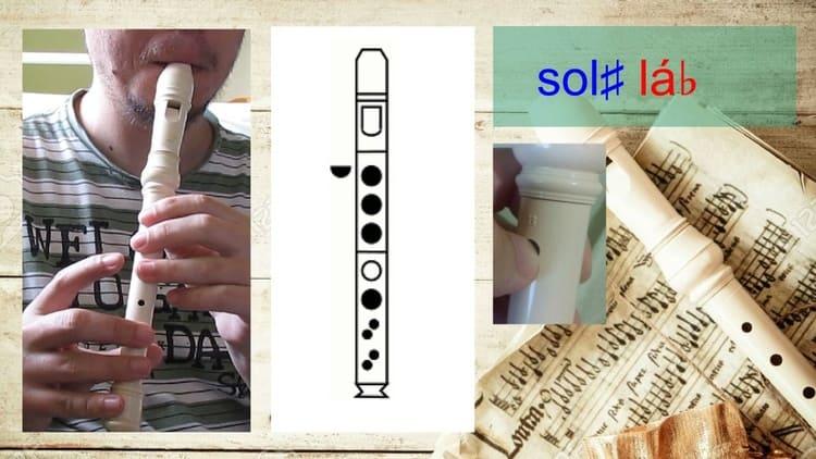 Sol# ou Láb - Flauta doce soprano germânica