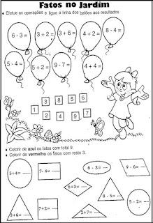 Atividades de matemática para 1º ano